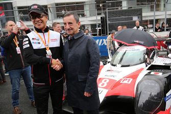 Pierre Fillon, President ACO, Shigeki Tomoyama, President Gazoo Racing