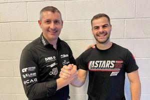 Luca Boscoscuro with Romano Fenati, Speed Up Moto2