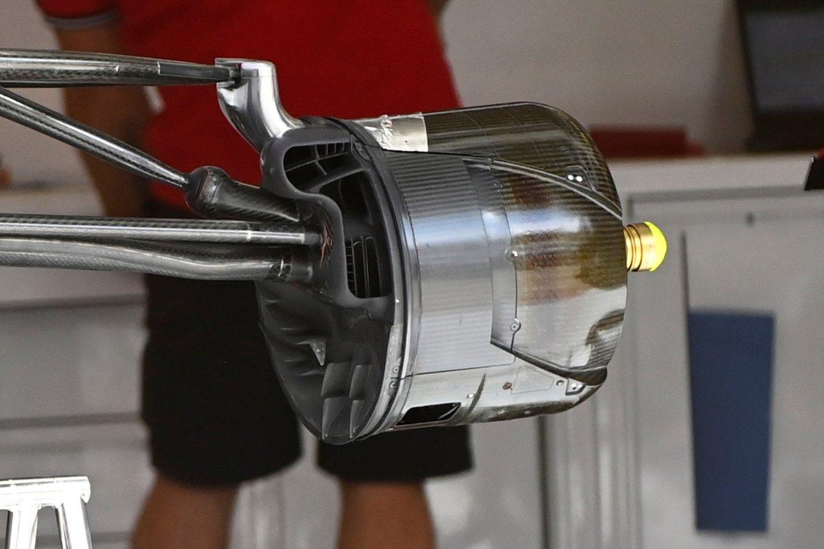 Alfa Romeo Racing C41 brake drum detail