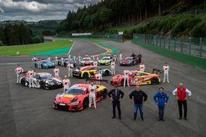 Toutes les équipes, team principals et pilotes clientes d'Audi Sport