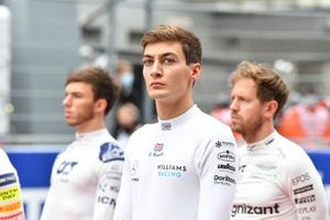 George Russell, Williams, on the grid
