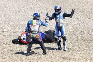 Sturz: Jules Cluzel, GMT94 Yamaha, Kevin Manfredi, Altogo Racing Team