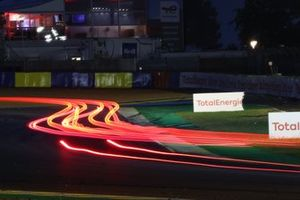 Track action at night