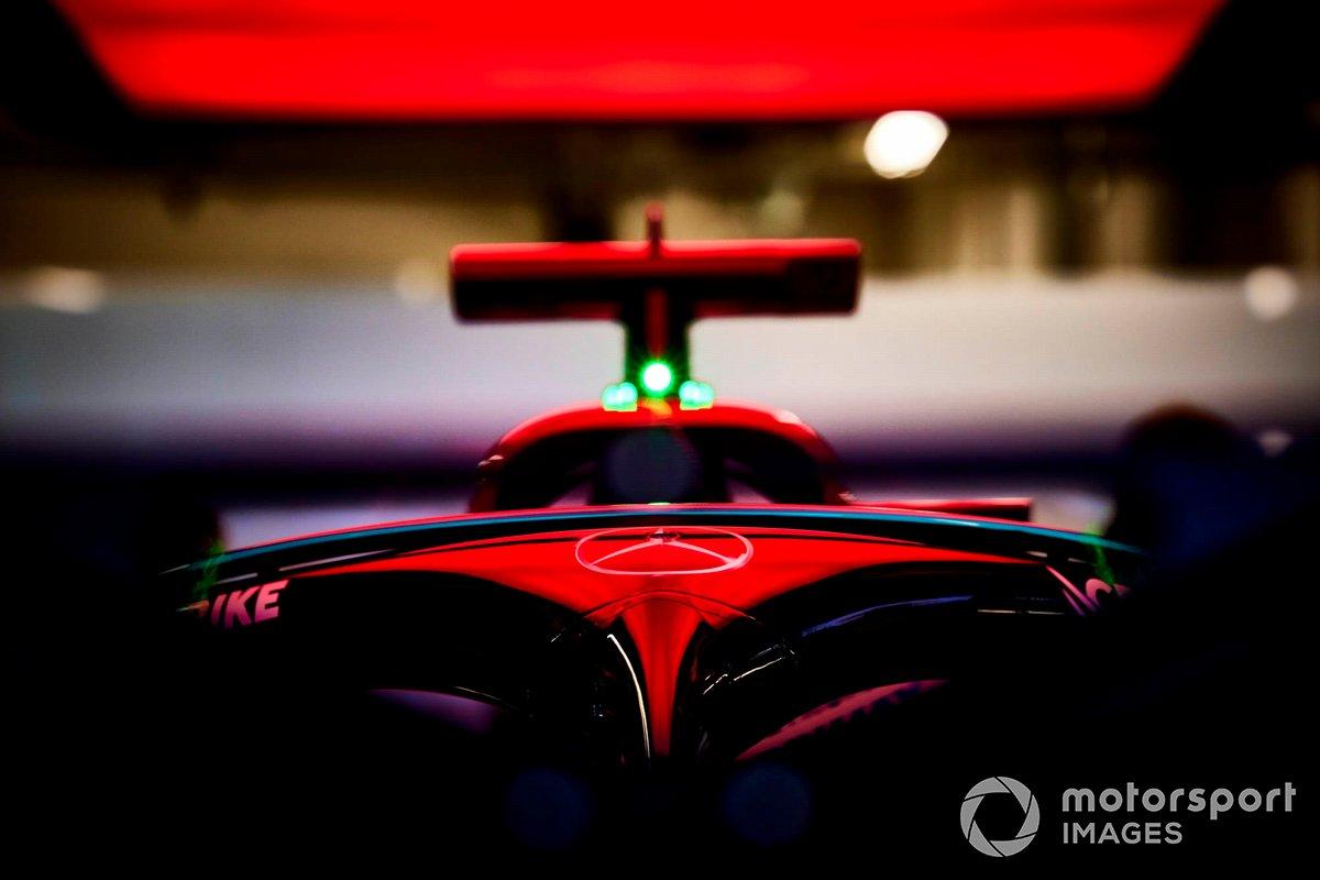 El halo en el Mercedes W12