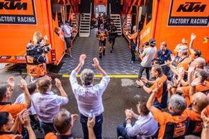 Race winner Brad Binder, Red Bull KTM Factory Racing