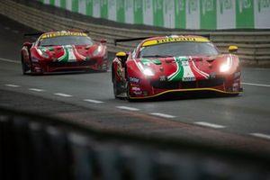#51 AF Corse Ferrari 488 GTE EVO LMGTE Pro, Alessandro Pier Guidi, James Calado, Come Ledogar, #52 AF Corse Ferrari 488 GTE EVO LMGTE Pro, Daniel Serra, Miguel Molina, Sam Bird