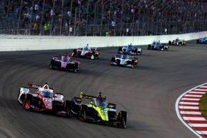 Graham Rahal, Rahal Letterman Lanigan Racing Honda, Ed Jones, Dale Coyne Racing with Vasser Sullivan Honda