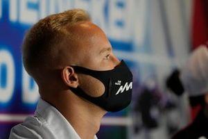Nikita Mazepin, Haas VF-21 at the press conference
