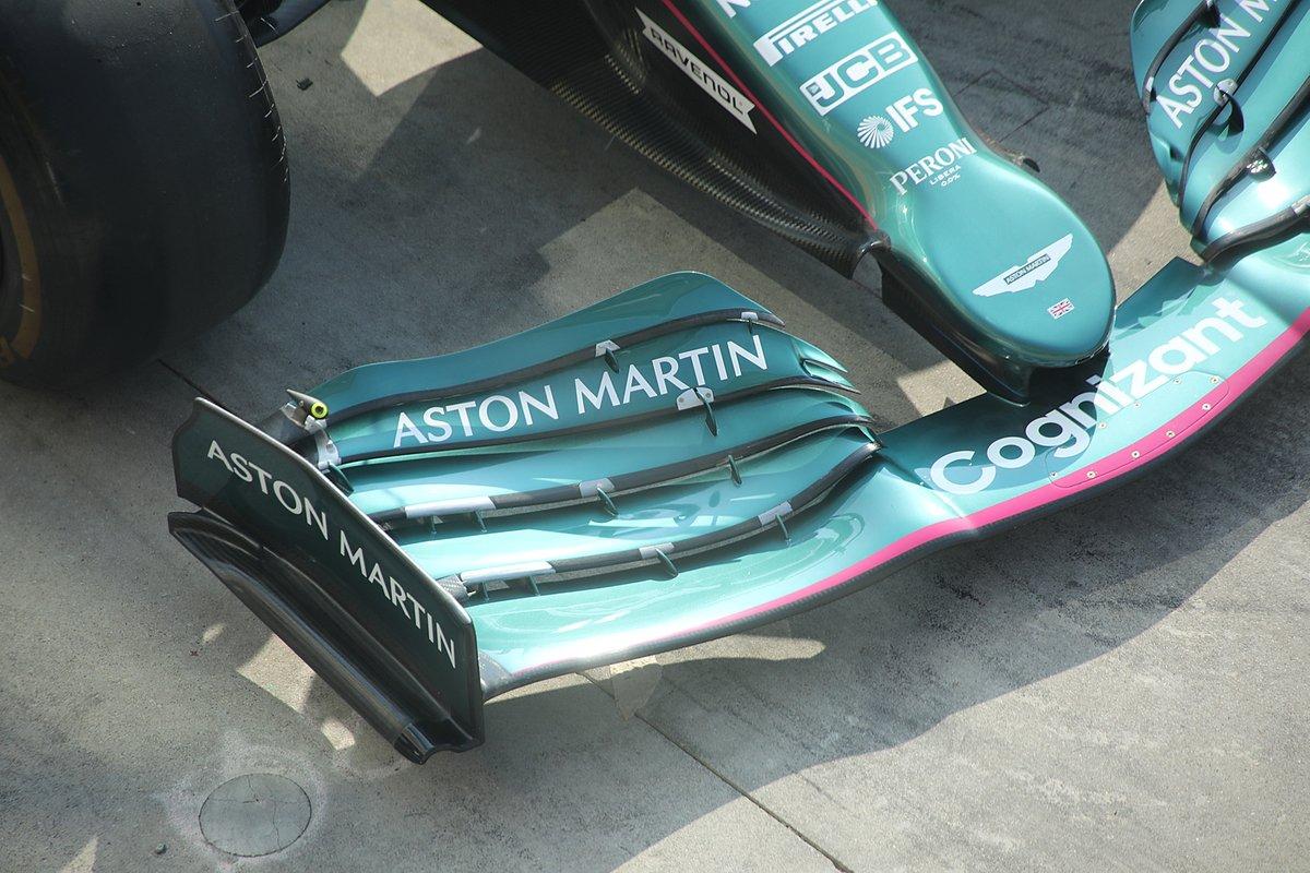 Aston Martin AMR21: Frontflügel