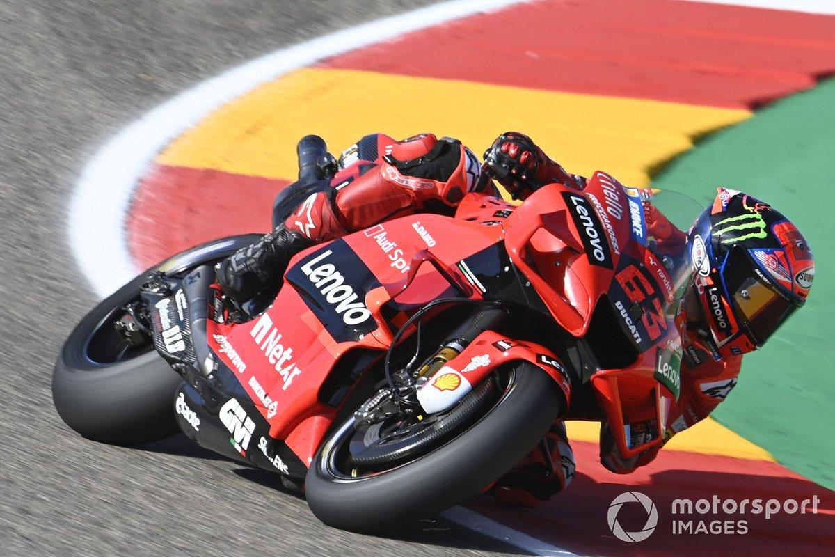 2021: Francesco Bagnaia (Ducati) mit 1:46,322 MInuten