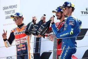Marc Márquez, Repsol Honda Team Francesco Bagnaia, Ducati Team, Joan Mir, Team Suzuki MotoGP
