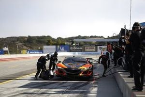 Des membres de l'équipe de #76: Compass Racing Acura NSX GT3, GTD: Jeff Kingsley, Mario Farnbacher