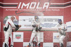 Podio: Marco Cassarà, Raptor Engineering, Piergiacomo Randazzo, AB Racing e Andreas Corradina, Huber Racing