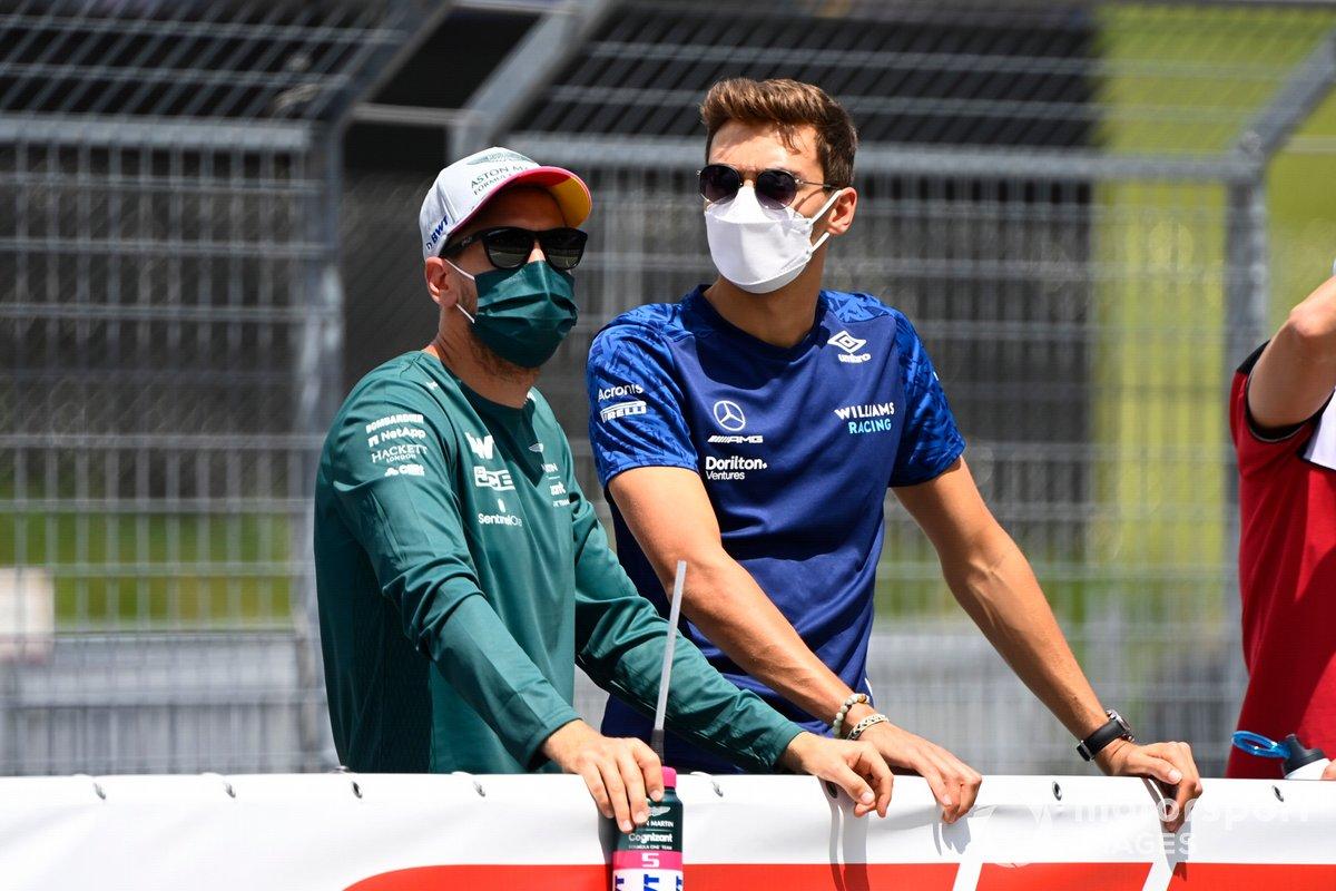 Sebastian Vettel, Aston Martin, George Russell, Williams,