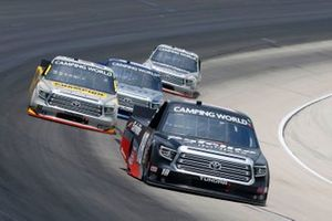 Chandler Smith, Kyle Busch Motorsports, Toyota Tundra Safelite AutoGlass, Grant Enfinger, ThorSport Racing, Toyota Tundra Champion/Curb Records
