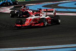 Dennis Hauger, Prema Racing, leads Jack Doohan, Trident