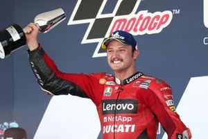 Podium: Race winner Jack Miller, Ducati Team