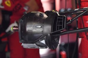 Ferrari SF21 front brake duct with no drum cover detail