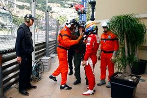 Fernando Alonso, Ferrari with Marshals