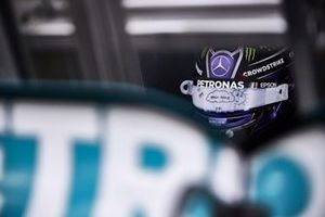 The helmet of Lewis Hamilton, Mercedes