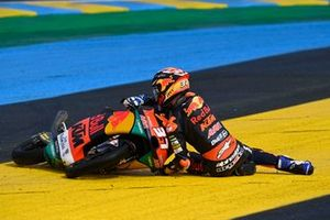 Pedro Acosta, Red Bull KTM Ajo, crash