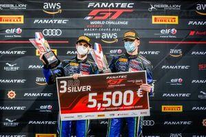 Podium: #14 Emil Frey Racing Lamborghini Huracan GT3 Evo: Arthur Rougier, Alex Fontana