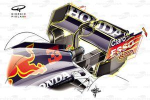 Alerón trasero flexible del Red Bull Racing RB16B