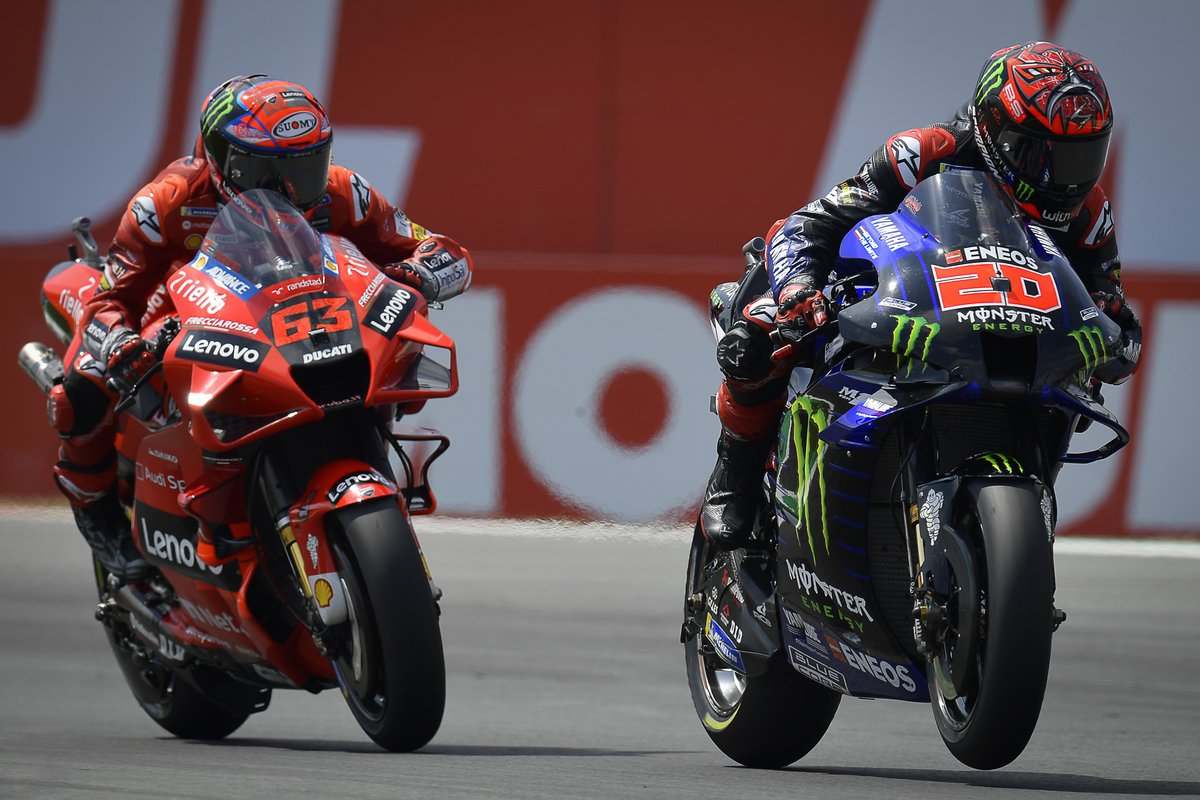 Fabio Quartararo, Yamaha Factory Racing, Francesco Bagnaia, Ducati Team