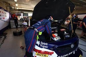 Triple Eight Race Engineeing Holden mechanic at work