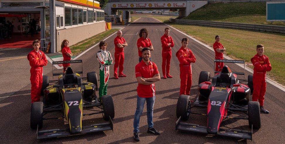 Bruno del Pino, Tuukka Taponen, Brando Badoer, Andrea Kimi Antonelli, Ferrari Driver Academy