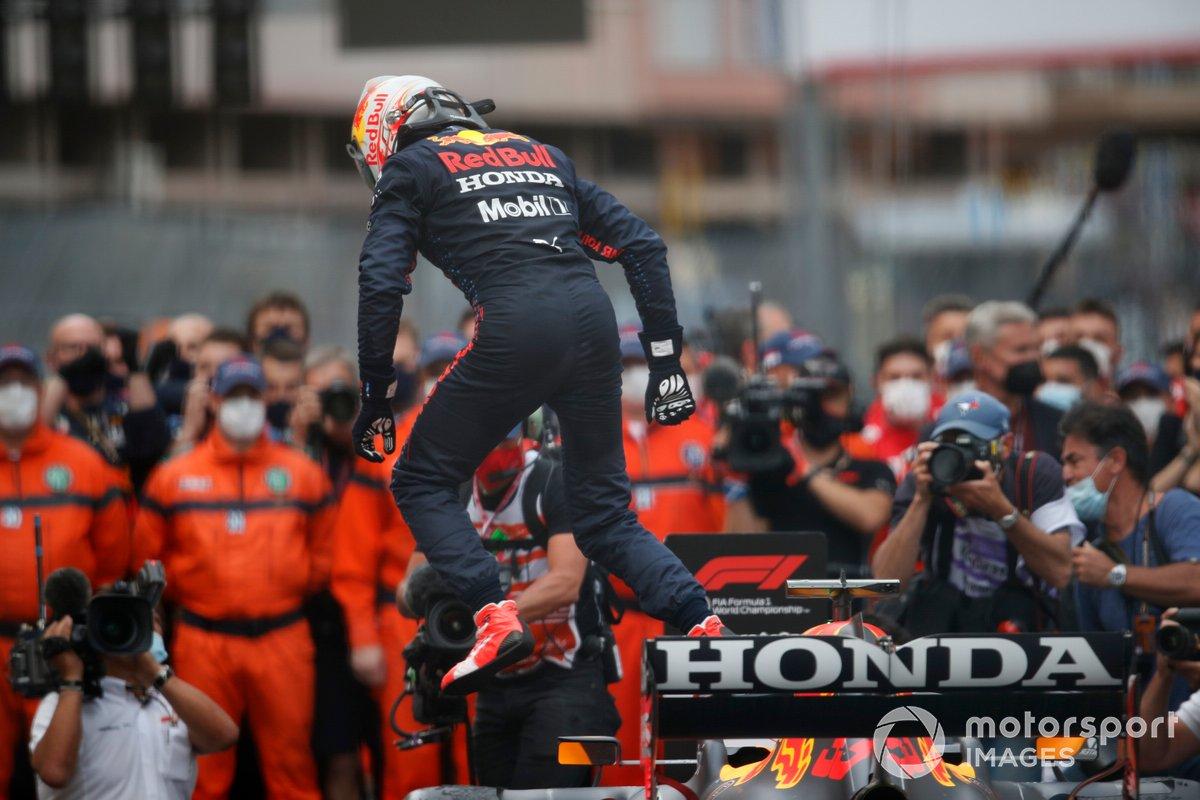 Ganador Max Verstappen, Red Bull Racing celebra