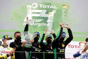 Podium: Race winner #911 Manthey Racing Porsche 911 GT3 R: Matteo Cairoli, Michael Christensen, Kevin Estre