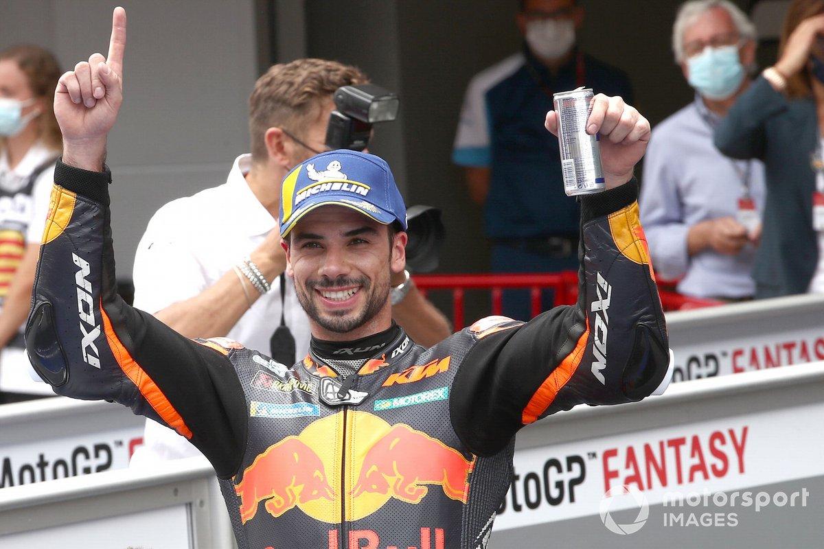 Podio: ganador Miguel Oliveira, Red Bull KTM Factory Racing MotoGP