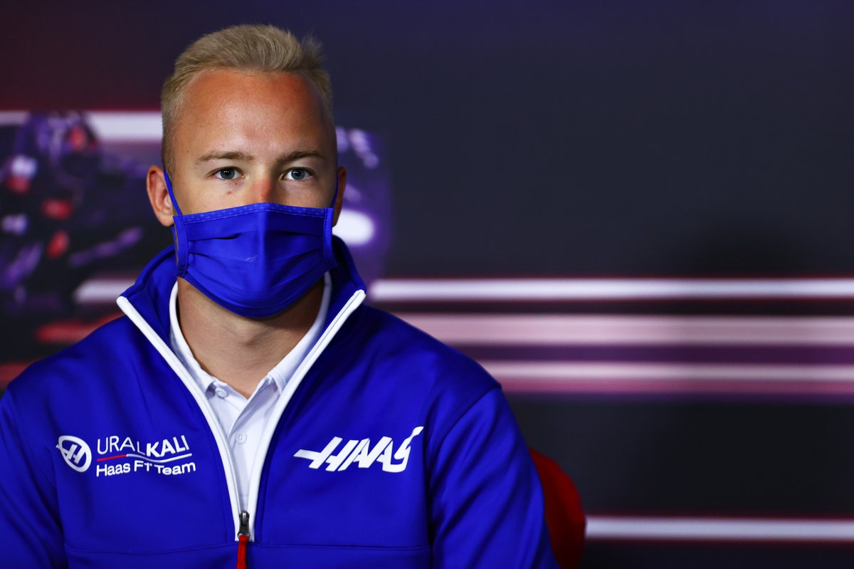 Nikita Mazepin, Haas F1 during the press conference