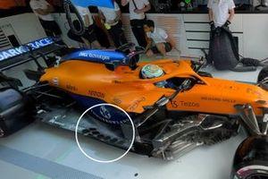 McLaren MCL35M floor fins detail