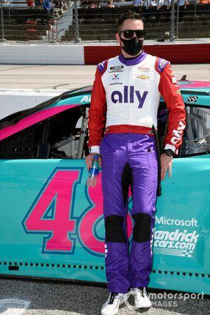 Alex Bowman, Hendrick Motorsports, Chevrolet Camaro Ally Throwback