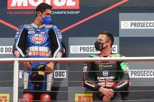 Podio: Toprak Razgatlioglu, PATA Yamaha WorldSBK Team, Alex Lowes, Kawasaki Racing Team WorldSBK