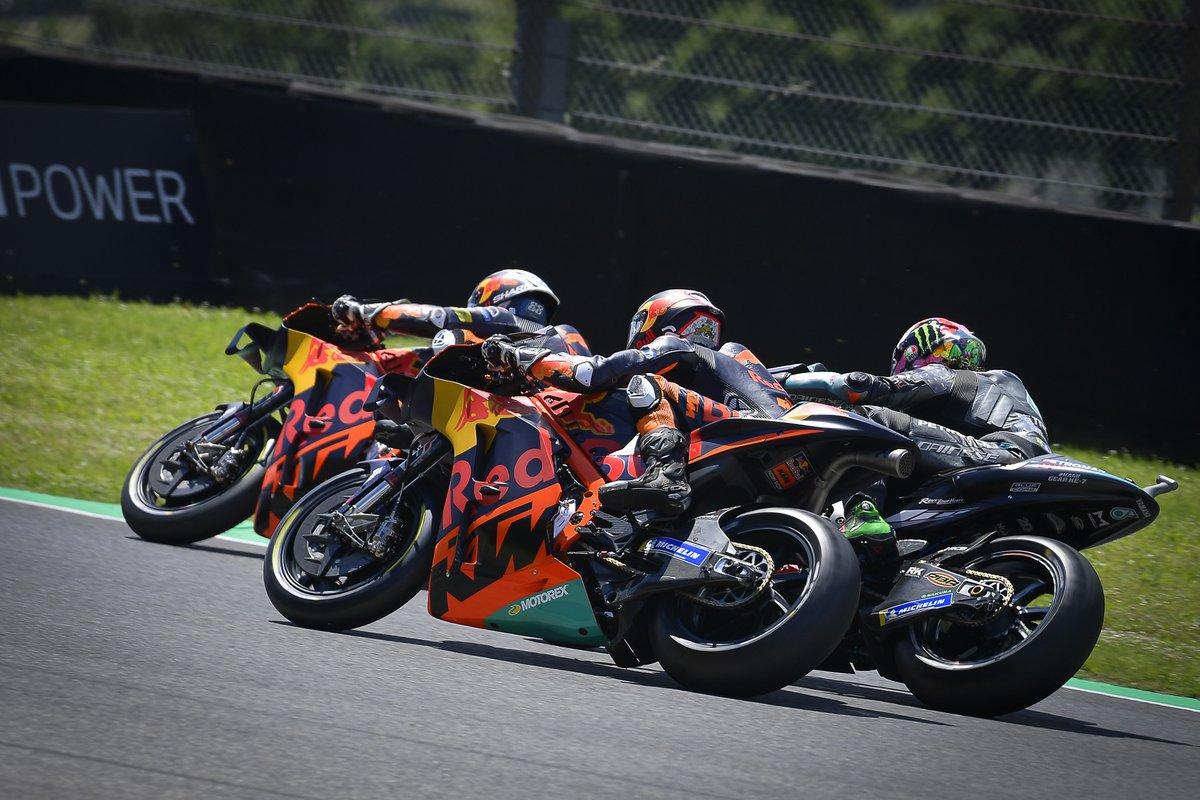 Miguel Oliveira, Red Bull KTM Factory Racing, Franco Morbidelli, Petronas Yamaha SRT, Brad Binder, Red Bull KTM Factory Racing