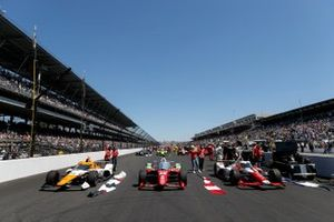 Santino Ferrucci, Rahal Letterman Lanigan Racing Honda, Juan Pablo Montoya, Arrow McLaren SP Chevrolet, JR Hildebrand, A.J. Foyt Enterprises Chevrolet