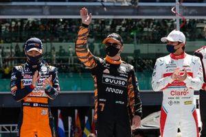 Takuma Sato, Rahal Letterman Lanigan Racing Honda, Felix Rosenqvist, Arrow McLaren SP Chevrolet, Pietro Fittipaldi, Dale Coyne Racing with RWR Honda