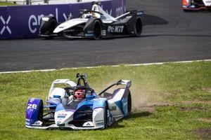 Maximilian Gunther, BMW i Andretti Motorsport, BMW iFE.21, passe dans l'herbe