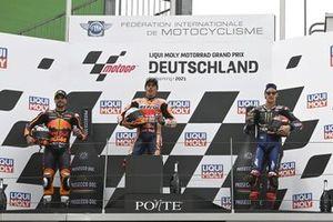 Podium: race winner Marc Marquez, Repsol Honda Team, second place Miguel Oliveira, Red Bull KTM Factory Racing, third place Fabio Quartararo, Yamaha Factory Racing
