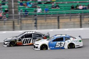 Quin Houff, StarCom Racing, Chevrolet Camaro 8 Ball Chocolate Whiskey et Garrett Smithley, Rick Ware Racing, Ford Mustang