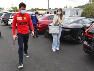 Charles Leclerc, Ferrari, and girlfriend Charlotte Sine