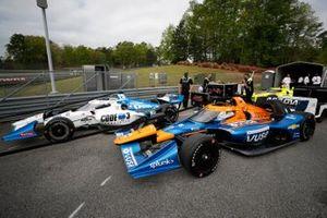 Graham Rahal, Rahal Letterman Lanigan Racing Honda, Felix Rosenqvist, Arrow McLaren SP Chevrolet