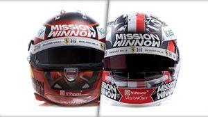 Les casques de Charles Leclerc et Carlos Sainz