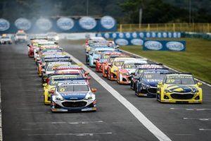 Largada da corrida 2 em Goiânia
