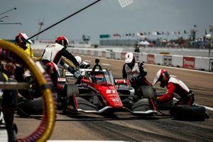 Rinus VeeKay, Ed Carpenter Racing Chevrolet pit stop