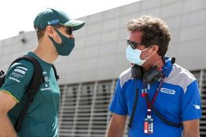 Sebastian Vettel, Aston Martin in the paddock