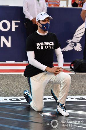 Nicholas Latifi, Williams FW43B taking a knee